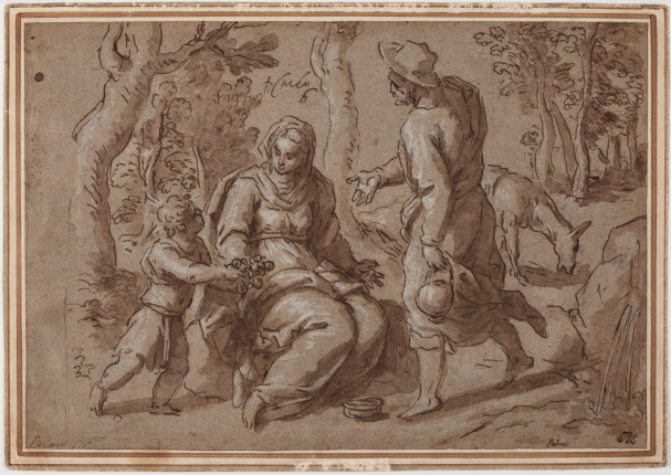 Palma Geovane Italian, 1625, Pen and ink with brown wash, heightened with white