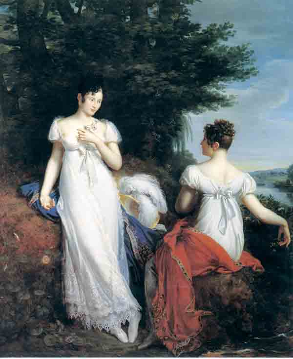 Portrait of Princess Pauline Borghèse and the Baroness de Mathiesse