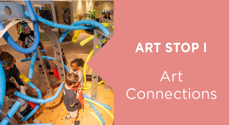 Image showing the activity for this art stop. This is the beginning of Art Stop I